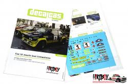 1:24 Fiat 131 Abarth Seat Competicion - Costa Brava Rally 1979 Decals