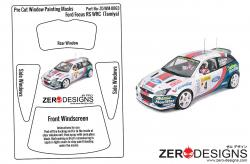 1:24 Ford Focus RS WRC Pre Cut Window Painting Masks (Tamiya)