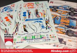 1:24 Flying Lizard 2011 Le Mans Livery for Porsche 911 GT3 (Fujimi)