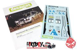 1:24 Ford Escort Mk. II RS 1800 Allied Polymer Group - Great Britain RAC Rally 1975 Decals