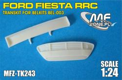 1:24 Ford Fiesta RRC - Resin front grill and rear wing Transkit