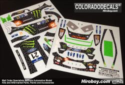 1:24 Ford Fiesta RS WRC #21 Atkinson Rally Mexico 2012 Decals