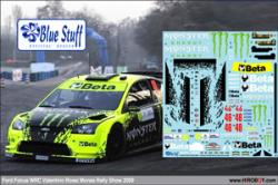 1:24 Ford Focus WRC Valentino Rossi Monza Rally Show 2009 Decals