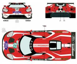 1:24 Ford GT #66/67 24 Hours Le Mans 2019 Decals