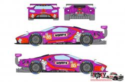 1:24 Ford GT Keating Motorsport Wynn's - 24 Hours Le Mans 2019 Decals