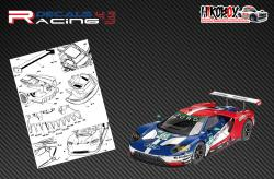 1:24 Ford GT LM Carbon Fibre Decals (Revell)