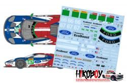 1:24 Ford GT - GT Team UK 2018 Spa/Le Mans Decals