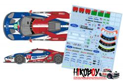 1:24 Ford GT - GT Team USA 2018 Daytona/ Le Mans Decals