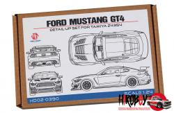 1:24 Ford Mustang GT4 Detail Up Set (PE+Resin+Metal Parts)