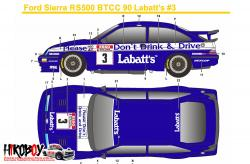 1:24 Ford Sierra RS500 BTCC 90 Labatt's #3 Decals (Tamiya) c/w Resin Dash