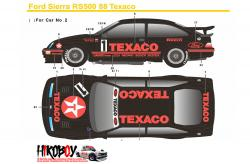 1:24 Ford Sierra RS500 88 Texaco Decals (Tamiya)