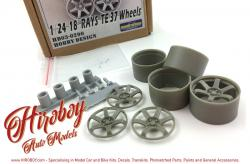 "1:24  18"" TE37 Rays Volk Racing Wheels"