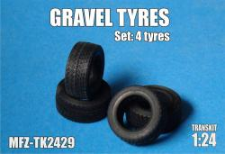 1:24 Gravel tyres 4 pieces