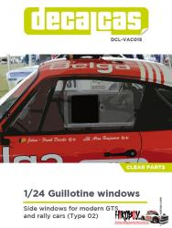 1:24 Guillotine windows for modern GTS and rally cars - Type 02
