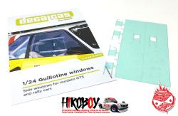 1:24 Guillotine windows for modern GTS and rally cars - Type 01