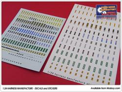 1:24 Harness Manufacture Decals/Stickers