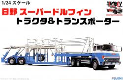 1:24 Hino Super Dolphin Tractor and Car Transporter Trailer