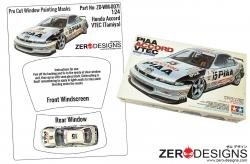 1:24 Honda Accord Pre Cut Window Painting Masks (Tamiya)