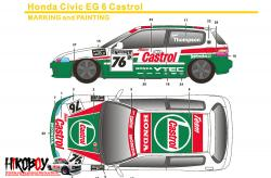 1:24 Honda Civic EG6 Gr.N Castrol Decals