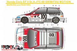 1:24 Honda Civic EF3 Gr.A Idemitsu Motion Decals