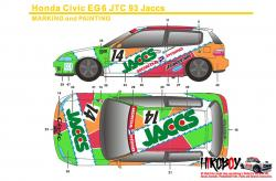 1:24 JACCS Honda Civic EG6 Gr.N Decals