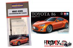 1:24 Toyota 86 / GT86/ FRS Detail up Parts For Tamiya (24323) (PE+Resin)