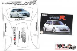 1:24 Honda Civic Type R (EK9) Early Type Pre Cut Window Painting Masks (Fujimi)