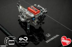 1:24 Honda F20C Resin Engine Kit with Turbo option (for Tamiya S2000)