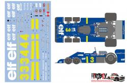 1:20 Tyrrell P34 Six Wheeler / Tyrrell P34  Six Wheeler 1976 JAPAN GP Decals for Tamiya