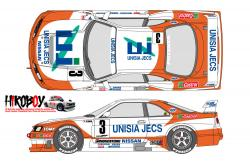 1:24 Unisia Jecs Nissan Skyline GT-R R33 JTCC 1996 Decals for Tamiya