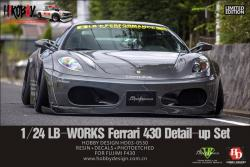 1:24 LB-WORKS Ferrari 430 Wide Body Kit for Fujimi Ferrari 430
