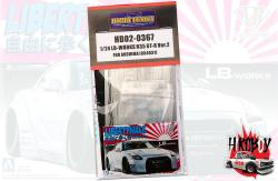 1:24 LB-Works Nissan R35 GT-R Ver.2 For Aoshima 054031(PE+Metal parts+Metal Logo)(HD02-0361)