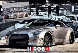 1:24 LB Performance Nissan R35 GT-R Detail up Transkit  (Tamiya)