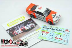 1:24 Opel Manta 400 Group B Escudería Drago Rallye Marlboro Decals