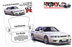 1:24 Nissan Skyline R33 GT-R Pre Cut Window Painting Masks (Fujimi)