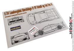 1:24 Lamborghini Murcielago R-SV Photoetch Detail-Up Set for Aoshima