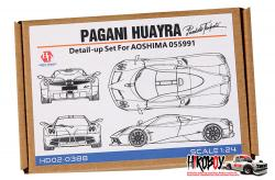 1:24 Pagani Huayra Pacchetto Tempesta Detail-up Set (Aoshima)