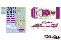 1:24 Jaguar XJR-9LM Works Team XJR-9LM 1988 Decals for Tamiya