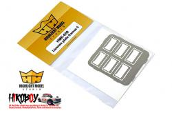 1:24 License Plate Frames + License Plates 5 (Photoetched)