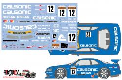 1:24 Calsonic Nissan Skyline R34 GT-R 1999 Decals for Tamiya