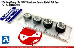 "1:24 Long Champ (Set B) 14"" Wheels and Camber Stretch Wall Tyres"