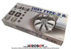 "1:24 Luxy Type 2 19"" Wheels/Tyres and Audio Parts"