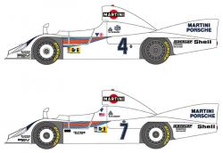 1:24 Martini Porsche 936 Turbo 1977 Le Mans Decals for Tamiya