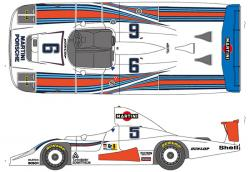 1:24 Martini Porsche 936 Turbo 1978 Le Mans Decals for Tamiya