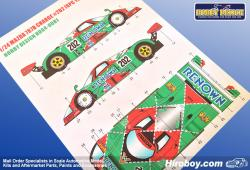 1:24 Mazda 787B Charge #202 JSPC 1991 Decals for Tamiya