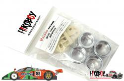 1:24 Mazda 787B Wheels Set (Machined Aluminium/Resin ) for Tamiya