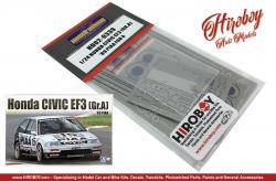 1:24 Honda Civic EF3 (GR.A) '89 PIAA for Aoshima (PE+Metal Parts+Resin)