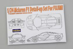 1:24 Mclaren F1 GTR Photoetched Detail up Set for Fujimi Photoetched+Resin