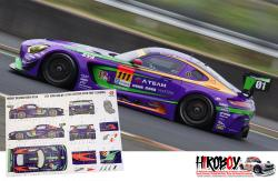 1:24 Mercedes-AMG GT3 EVA Racing 2016 Decals for Tamiya