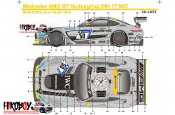 1:24 Mercedes-AMG GT3 IWC Watch #50 Decals - Pre-Order